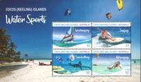 Îles Cocos - Sports aquatiques - Bloc-feuillet neuf