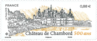 France - Château Chambord - Timbre neuf