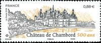 Frankrig - Chambord Slot - Postfrisk frimærke