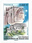 France - Abbatiale Saint-Philbert - Mint stamp