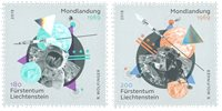 Liechtenstein - Månelandingen - Postfrisk sæt 2v