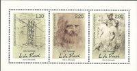 Liechtenstein - Leonard da Vinci, 500 ans - Bloc-feuillet neuf