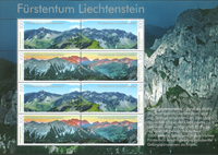 Liechtenstein - Panorama, montagnes - Feuillet neuf