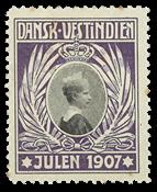Dansk Vestindien - Julemærke 1907 nr. 1