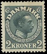 Danmark - 2 kr. skiffergrå 7b