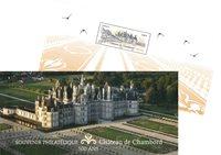 France - Chambord Castle - Mint souvenir sheet in folder