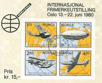 Norvège - AFA 816 - Bloc-feuillet - Oblitéré