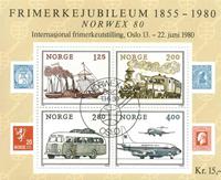 Norge - AFA nr. 828 - Stemplet miniark