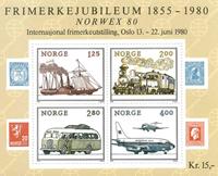 Norge - AFA nr. 828 - Postfrisk miniark