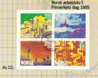 Norge - AFA nr. 938 - Stemplet miniark