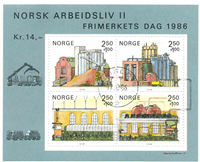 Norge - AFA nr. 955 - Stemplet miniark