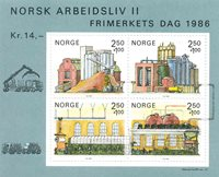 Norge - AFA nr. 955 - Postfrisk miniark