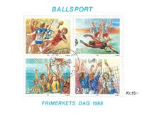Norge - AFA nr. 1001-04 - Stemplet miniark