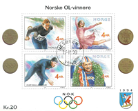 Norvège - AFA 1050-53 - Bloc-feuillet - Oblitéré