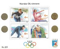 Norge - AFA 1050-53 - Miniark - Postfrisk