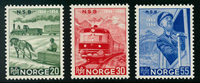 Norge - AFA nr. 398-400 - Postfrisk