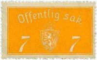 Norge tjenestemærker - AFA nr. 11 - Postfrisk