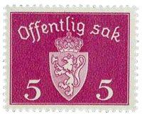 Norvège  Service Stamps - AFA 22 - Neuf