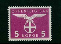 Norge tjenestemærker - AFA nr. 41 - Postfrisk