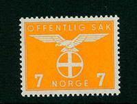 Norge tjenestemærker - AFA nr. 42 - Postfrisk