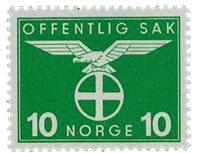 Norge tjenestemærker - AFA 43 - Postfrisk