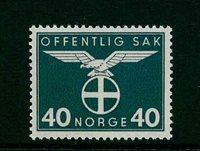 Norvège - Timbres service - AFA 49 - Neuf