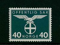 Norge tjenestemærker - AFA nr. 49 - Postfrisk