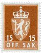 Norvège - Timbres service - AFA 70F - Neuf