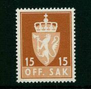 Norvège - Timbres service - AFA 70 - Neuf