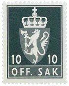 Norvège - Timbres service - AFA 100 - Neuf