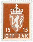 Norge tjenestemærker - AFA nr. 101 - Postfrisk