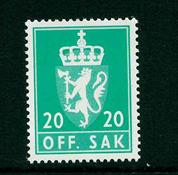 Norge tjenestemærker - AFA nr. 102 - Postfrisk