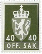 Norvège - Timbres service - AFA 104 - Neuf