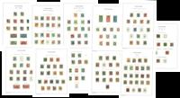 Danemark - Collection dans un album Leuchtturm avec pochettes