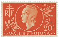 Wallis 147 * 5 fr+20f rouge- orange Entraide francaise 1944