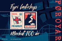 Færøerne - Merkid krigsvelgørenhed - Flot miniark