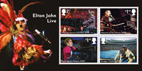 Grande-Bretagne - Elton John - Bloc-feuillet neuf