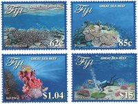 Fiji - Havets koralrev - Postfrisk sæt 4v