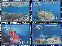 Îles Fidji - Récif Great Sea - Série neuve 4v