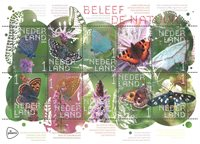 Netherlands - Butterflies - Mint sheetlet