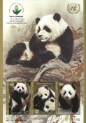 United Nations - Exhibition Wuhan China 2019, Pandas - Mint souvenir sheet