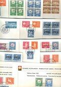 FN Schweiz - Dubletlot - Førstedagskuverter med tjenestemærker