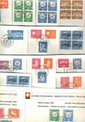 UN Switzerland - Duplicate lot - First Day Covers with service stamps