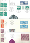 UN - Duplicate lot - First Day Covers with tête-bêche
