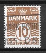 Danmark  - AFA 185y - Stemplet