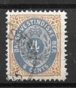 Deens-West-Indië  - AFA 7B - Gebruikt