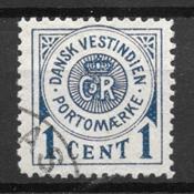 Deens-West-Indië  - Porto  1 - Gebruikt