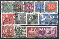 Suisse 1945 - AFA 449-461 - Oblitéré