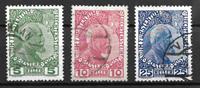 Lichenstein  1912 - AFA 1a-3a - Oblitéré