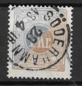 Suède 1874 - Po 10 - Oblitéré